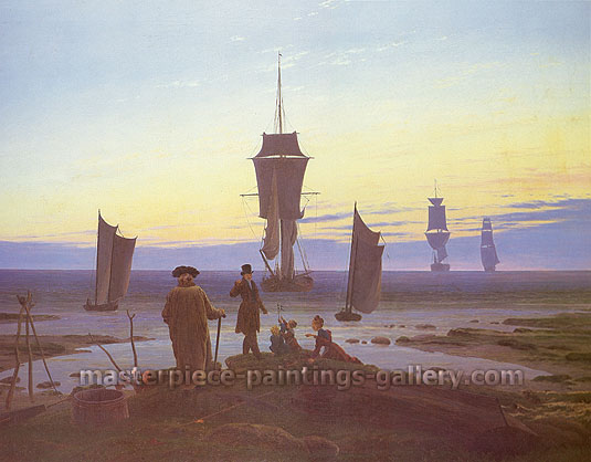 Caspar David Friedrich, The Stages of Life, 1835, oil on canvas, 28.5 x 36.9 in. / 72.4 x 93.7 cm, US$399