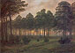 Caspar David Friedrich, Times of Day: Evening | Der Abend, 1820, oil on canvas, 15.7 x 22 in. / 40 x 56.5 cm, US$265