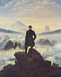 Caspar David Friedrich, Wanderer Looking over a Sea of Fog, 1815, oil on canvas, 38.8 x 29.5 in. / 98.4 x 74.9 cm, US$435