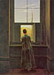 Caspar David Friedrich, Woman at the Window, 1822, oil on canvas, 23.6 x 16.8 in. / 60 x 42.8 cm, US$269