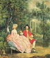 Thomas Gainsborough, Conversation in a Park | The Artist and His Wife, oil on canvas, 21 x 19.9 in. / 53.3 x 50.5 cm, US$375