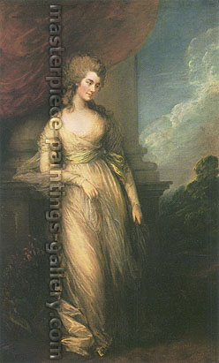 Thomas Gainsborough, Georgianna, Duchess of Devonshire, 1783, oil on canvas, 30 x 18.6 in. / 76.2 x 47.4 cm, US$460