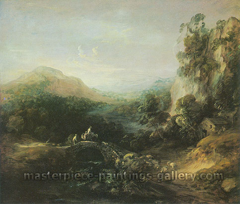 Thomas Gainsborough, Landscape with Bridge, 1785, oil on canvas, 20.3 x 24 in. / 51.1 x 64 cm, US$290