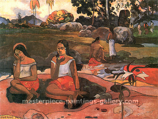 Paul Gauguin, Delicious Water | Nave Nave Moe, 1894, oil on canvas, 28.7 x 38.6 in. / 73 x 98 cm, US$320