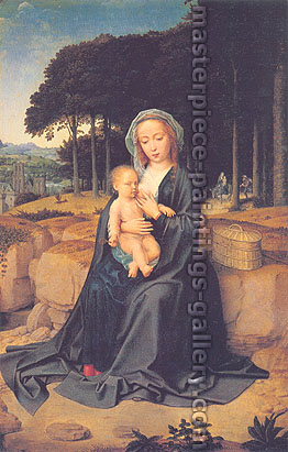 Gerard David, A Rest During the Flight to Egypt, 1510, oil on canvas, 23.6 x 15.4 in. / 60 x 39 cm, US$360