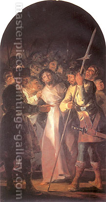 Francisco de Goya, The Arrest of Christ, 1798, oil on canvas, 59.1 x 39.4 in. / 150 x 100 cm, US$600