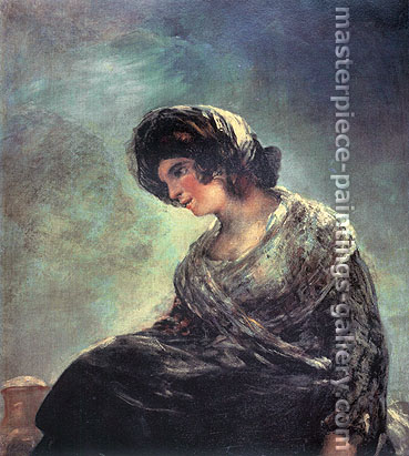 Francisco de Goya, The Bordeaux Milkmaid, 1827, oil on canvas, 33.9 x 29.1 in. / 86 x 74 cm, US$340.
