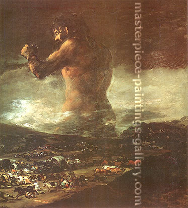 Francisco de Goya, The Colossus, 1808-12, oil on canvas, 45.5 x 41.3 in. / 115.6 x 104.9 cm, US$470