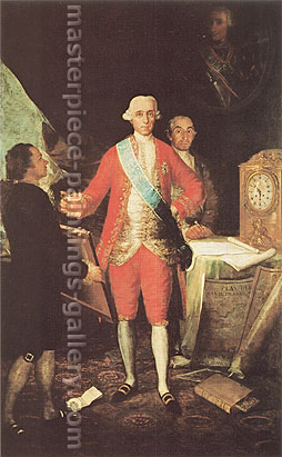 Francisco de Goya, The Count of Floridablanca and Goya, 1783, oil on canvas, 62.1 x 39.3 in. / 157.8 x 100 cm, US$630
