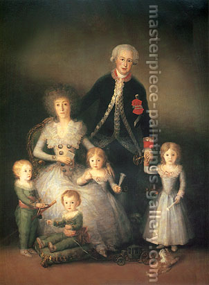 Francisco de Goya, The Duke and Duchess of Osuna with their Children, 1788, oil on canvas, 53.1 x 41.1 in. / 135 x 104.4 cm, US$540
