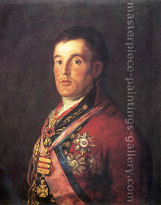 Francisco de Goya, The Duke of Wellington, 1812, oil on canvas, 25.3 x 33.3 in. / 64.3 x 84.7 cm, US$340.