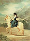 Francisco de Goya, Equestrian Portrait of Dana Maria eresa de a vallabriga, 1783, oil on canvas, 31.5 x 23.6 in. / 80 x 60 cm, US$320.