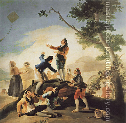 Francisco de Goya, The Kite | La Cometa, 1778, oil on canvas, 53 x 56.1 in. / 134.5 x 142.5 cm, US$570