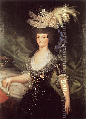 Francisco de Goya, Queen Maria Luisa, 1789, oil on canvas, 49.8 x 36.6 in. / 126.6 x 93 cm, US$510.