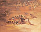 Francisco de Goya, Scene of a Bullfight, 1824-25, oil on canvas, 25.1 x 31.9 in. / 63.8 x 81 cm,US$320