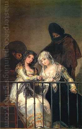 Francisco de Goya, Two Majas on a Balcony, 18011, oil on canvas, 76.5 x 49.5 in. / 194.3 x 125.7 cm, US$780