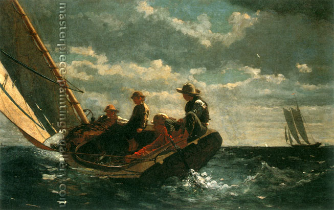 Winslow Homer, Breezing Up | A Fair Wind, 1876, oil on canvas, 24.1 x 38.1 in. / 61.3 x 96.8 cm, US$360