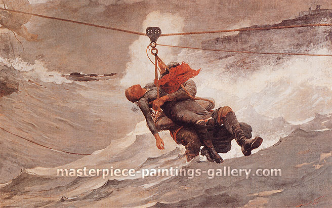 Winslow Homer, The Life Line, 1884, oil on canvas, 28.8 x 44.6 in. / 73.2 x 113.3 cm, US$420