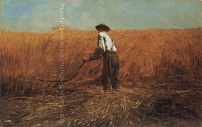 Winslow Homer, The Veteran in a New Field, 1865, oil on canvas, 24.1 x 38.4 in. / 61.2 x 97.5 cm, US$370.