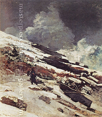 Winslow Homer, Winter Coast, 1890, oil on canvas, 36 x 31.5 in. / 91.4 x 80 cm, US$350.