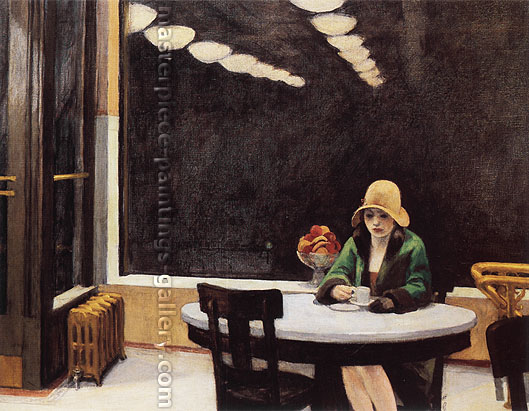 Edward Hopper, Automat, 1927, oil on canvas, 28.5 x 36 in. / 72.4 x 91.4 cm, US$290