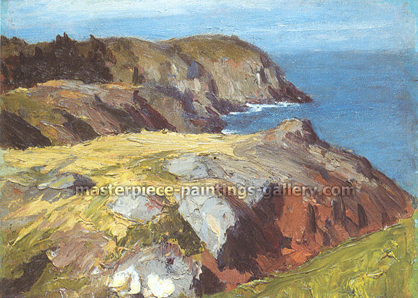 Edward Hopper, Blackhead Monhegan, 1916, oil on canvas, 23.4 x 32 in. / 59.4 x 81.3 cm, US$280