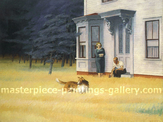 Edward Hopper, Cape Cod Evening, 1939, oil on canvas, oil on canvas, 30.2 x 40 in. / 76.8 x 101.6 cm, US$355