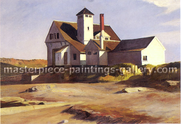 Coast Guard Station, 1927, oil on canvas, 29 x 43 in. / 73.7 x 109.2 cm, US$350
