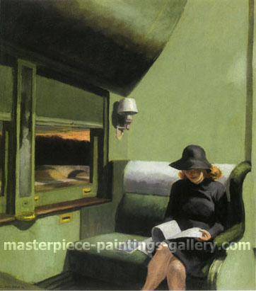 Edward Hopper, Compartment C, Car 193, 1938, oil on canvas, 20 x 18 in / 50.8 x 45.7 cm, US$320