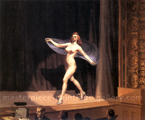 Edward Hopper, Girlie Show, 1941, oil on canvas, 32 x 38 in / 81.3 x 96.5 cm, US$340