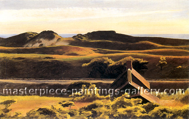 Edward Hopper, Hills, South Truro, 1930, oil on canvas, 27.4 x 43.1 in / 69.5 x 109.5 cm, US$350
