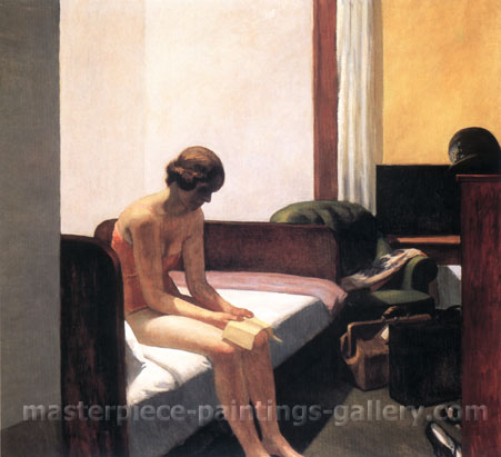 Edward Hopper, Hotel Room, 1931, oil on canvas, 29.4 x 32 in. / 74.8 x 81.3 cm, US$250