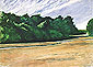 Mass of Trees at Eastham, 1962, oil on canvas, 21 x 28.7 in / 53.3 x 73 cm, US$235
