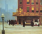 Edward Hopper, New York Corner | Corner Saloon, 1913, oil on canvas, 24 x 28.7 in. / 61 x 73 cm, US$280