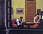 Edward Hopper, Room in New York, 1932, oil on canvas, 29 x 36 in. / 73.7 x 91.4 cm, US$299