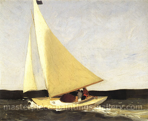 Edward Hopper, Sailing, 1911, oil on canvas, 24 x 29 in. / 61 x 73.7 cm, US$275