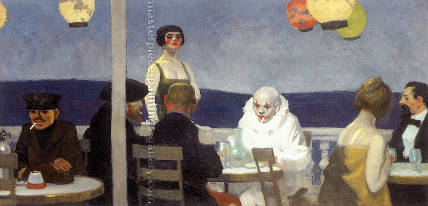 Edward Hopper, Soir Bleu, 1914, oil on canvas, 36 x 72 in. / 91.4 x 182.9 cm, US$550