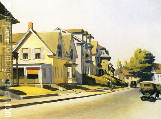 Edward Hopper, Street Scene, Gloucester, 1934, oil on canvas, 28.2 x 36 in / 71.7 x 91.4 cm, US$280