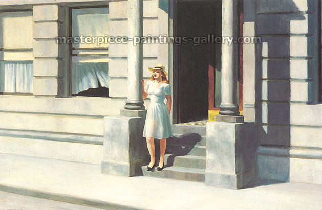 Edward Hopper, Summertime, 1943, oil on canvas, 29.1 x 44 in. / 74 x 111.8 cm, US$390