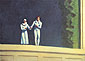 Edward Hopper, Two Comedians, 1966, oil on canvas, 29 x 40 in. / 73.7 x 101.6 cm, US$380