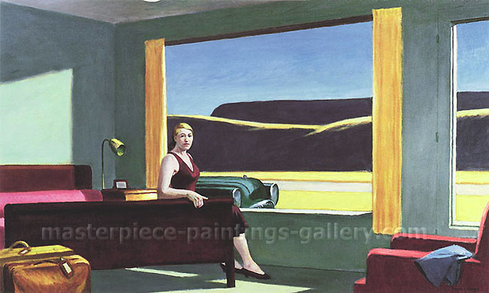 Western Motel, 1957, oil on canvas, 24.1 x 40 in / 61.3 x 101.6 cm, US$300