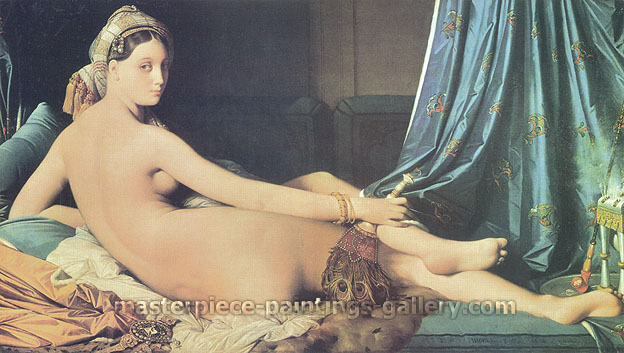 Jean Auguste Dominique Ingres, Le Grande Odalisque, 1814, oil on canvas, 36 x 64 in. / 91 x 162 cm, US$970