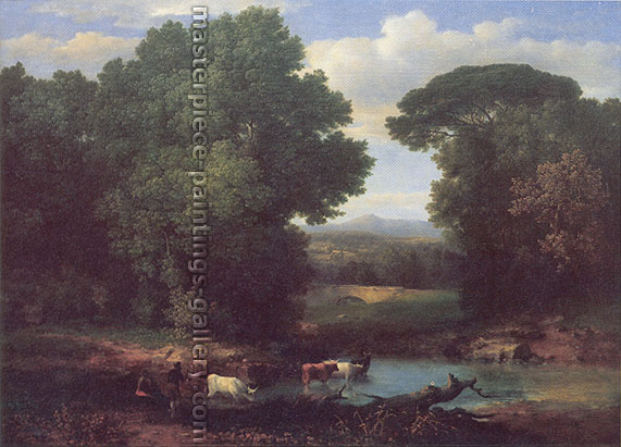 George Inness, A Bit of the Roman Aqueduct, 1852, oil on canvas, 32.3 x 44 in. / 82 x 112 cm, US$599