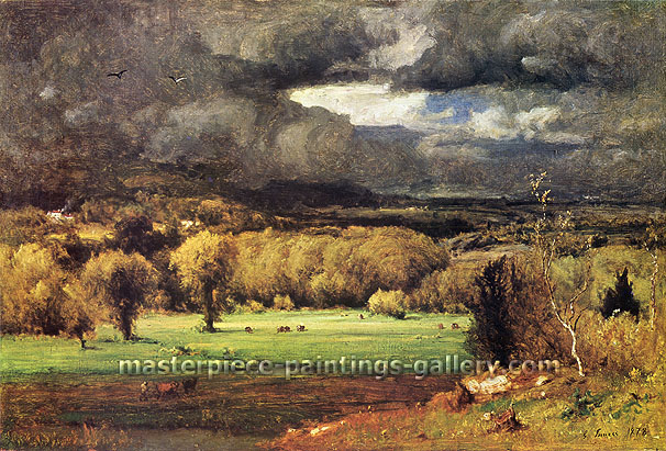 George Inness, The Coming Storm, 1878, oil on canvas, 26 x 39 in. / 66 x 99 cm, US$370