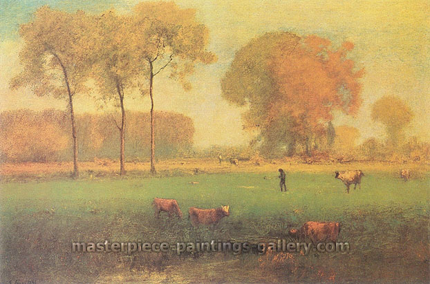 George Inness, Indian Summer, 1894, oil on canvas, 30 x 45.3 in. / 76.2 x 115 cm, US$499
