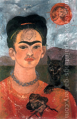 Frida Kahlo, Self-Portrait with the Image of Diego on my Breast and Maria on My Brow, 1953-54, oil on canvas, 24 x 16 in. / 61 x 41 cm, US$280
