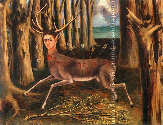 Frida Kahlo, The Little Deer, 1946, oil on canvas, 19.8 x 26.4 in. / 50.4 x 67.1 cm, US$280
