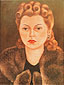 Frida Kahlo, Portrait of Natasha Gelman, 1943, oil on canvas, 31.5 x 24.1 in. / 80 x 61.3 cm, US$280