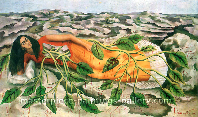 Frida Kahlo, Roots, 1943, oil on canvas, 21.6 x 35.4 in. / 54.9 x 89.8 cm, US$330