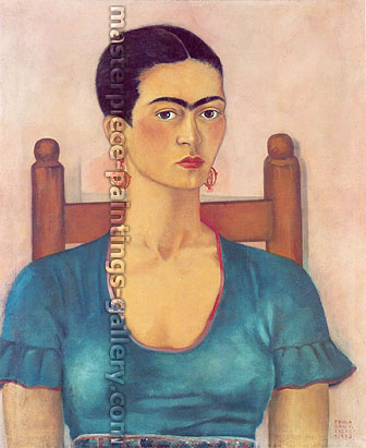 Frida Kahlo, Self-Portrait, 1930, oil on canvas, 25.6 x 21.7 in. / 65 x 55 cm, US$280